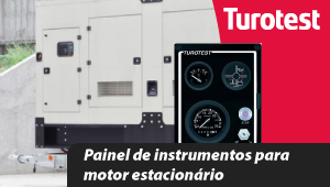 Painel de instrumentos para motor estacionário