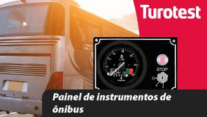 Painel de instrumentos de ônibus