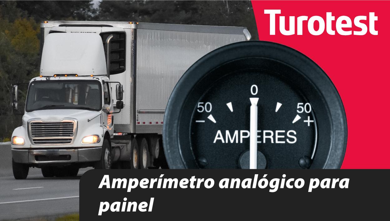 Amperímetro analógico para painel