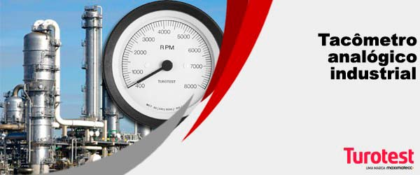 Tacômetro analógico industrial